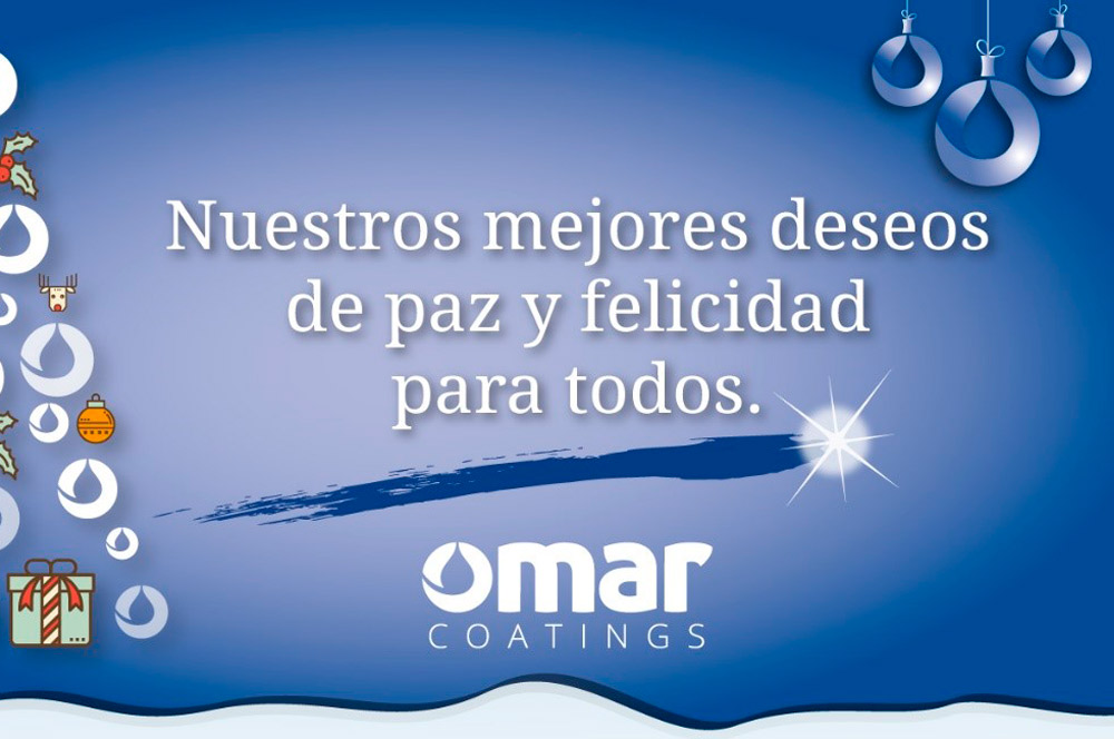 felicitacion navidad Omar Coatings